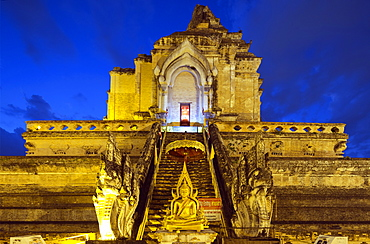 Wat Chedi Luang Worawihan temple, Chiang Mai, Thailand, Southeast Asia, Asia
