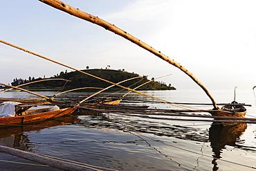 Fishing boats, Lake Kivu, Gisenyi, Rwanda, Africa