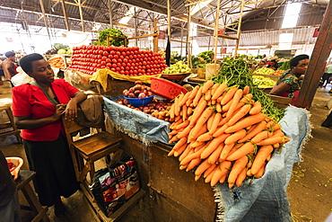 Carrots in the fresh produce market, Kigali, Rwanda, Africa