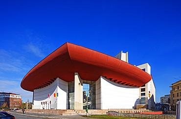 University Square, National Theatre, designed by Cezar Lazarescu, Bucharest, Romania, Europe
