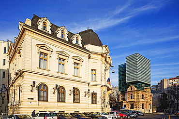 Piata Revolutei Square (Revolution Square), Headquarters of the Romanian Architects Association, Bucharest, Romania, Europe