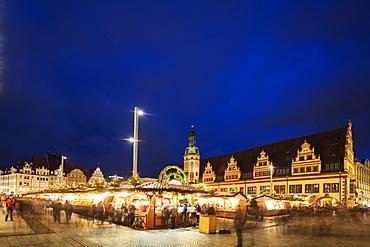 Leipzig Christmas market, Old Town Hall (Altes Rathaus), Leipzig, Saxony, Germany, Europe