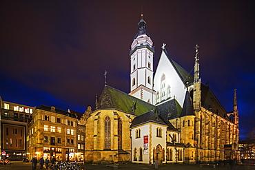 Thomaskirche, the church where composer Johann Sebastian Bach was kappelmeister, Leipzig, Saxony, Germany, Europe