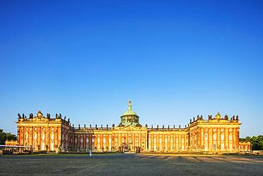Prussian Baroque New Palace (Neues Palais) built by King Friedrich II (Frederick the Great), Sanssouci Park, UNESCO World Heritage Site, Potsdam, Brandenburg, Germany, Europe
