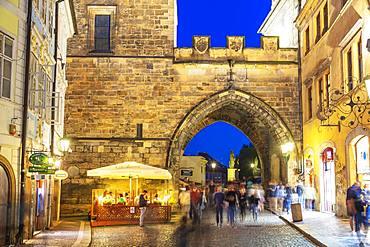 Old Town walls, Prague, UNESCO World Heritage Site, Bohemia, Czech Republic, Europe