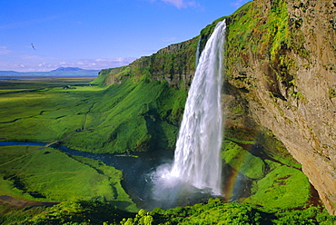Seljalandsfoss waterfall in the south of the island, Iceland - 733-81