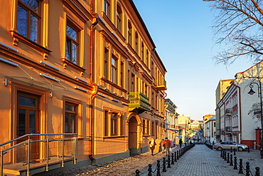 Old town houses in the Trinity Suburb, Minsk, Belarus, Eastern Europe