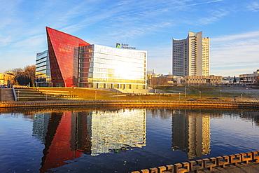 Development Bank of the Republic of Belarus, River Svislach, Minsk, Belarus, Eastern Europe