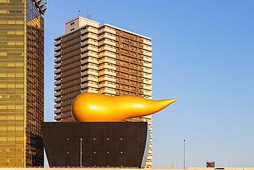 Asahi beer Golden Flame (Golden Turd), Asakusa, Tokyo, Japan, Asia