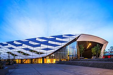 Musashino Forest Sport Plaza, designed by architectural firm Nihon Sekkei, Chofu, Tokyo, Japan, Asia