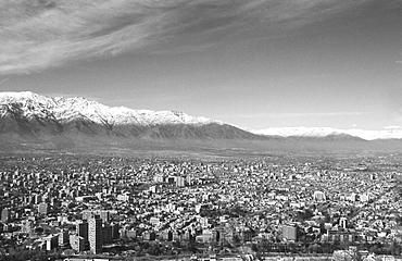 View over Santiago, capital of Chile, South America