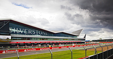 Silverstone Wing and pits at the British Grand Prix, Silverstone, Northamptonshire, England, United Kingdom, Europe