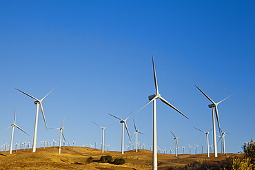 Wind turbines just outside Mojave, California, United States of America, North America