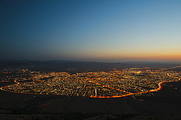 Sulaymaniyah at night, Iraq, Middle East