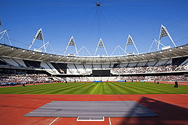 Inside The Olympic Stadium during the Gold Challenge Event, London, England, United Kingdom, Europe