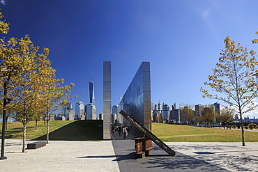 Empty Sky is the official New Jersey September 11 memorial to the state's victims of the September 11 attacks on the USA, Jersey City, New Jersey, United States of America, North America