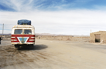 Local bus to Uyuni, Colchani, Bolivia, South America