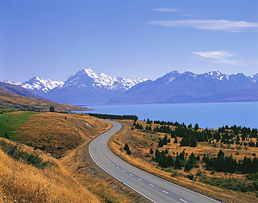 Mt. Cook & the express way, New Zealand