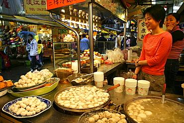 A tofu shop at Tofu food street, Taipei, Taiwan