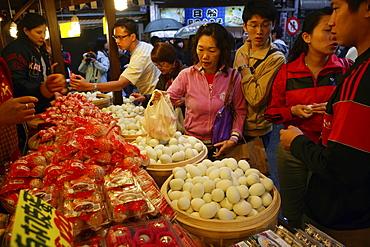 Shop of thousand years egg at Danshui Street, Taipei, Taiwan