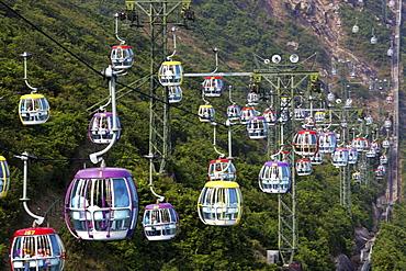 Cable car at Ocean Park, Hong Kong
