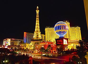 Las Vegas skyline at night, Nevada, USA