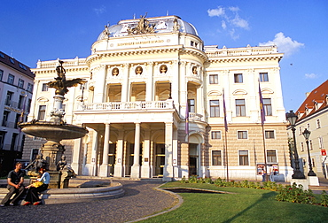 Neo-baroque Slovak National Theatre, now major opera and ballet venue, Bratislava, Slovakia, Europe