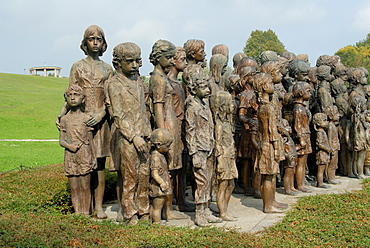 Memorial to children of Lidice sent to concentration camps after their village was destroyed by Nazis during WWII in revenge for the Czech Resistance assassination of the Nazi Governor of occupied Czechia Reinhard Heydrich, Lidice, Central Bohemia, Czech Republic, Europe
