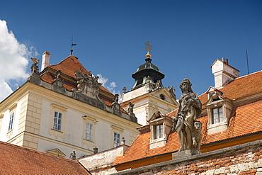 Detail of Baroque Valtice Castle, Valtice, Brnensko, Czech Republic, Europe
