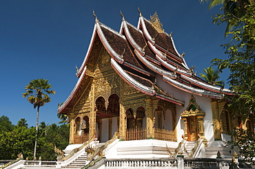 Haw Pha Bang Pavilion at Royal Palace, Luang Prabang, Laos, Indochina, Southeast Asia, Asia