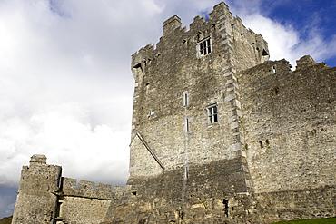 Ross castle on Loch Lein, Killarney National Park, Republic of Ireland, Europe