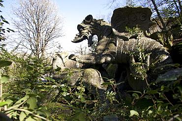 Parco dei Monstri (Garden of the Monsters), Sacro Bosco, Bomarzo gardens, Viterbo, Lazio, Italy, Europe
