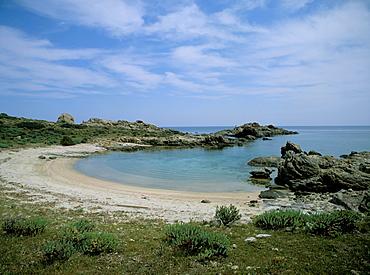 Bay on the coast, Asinara, Sardinia, Italy, Mediterranean, Europe