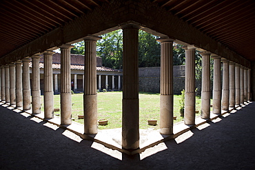 The atrium of the Poppea Villa (Villa Poppaea), Oplontis, UNESCO World Heritage Site, Campania, Italy, Europe