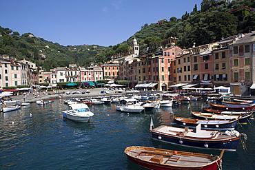 View of Portofino, Liguria, Italy, Mediterranean, Europe