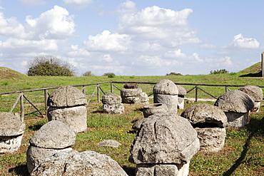 The Etruscan Necropolis of Monterozzi, UNESCO World Heritage Site, Tarquinia, Lazio, Italy, Europe