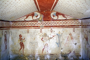 The Necropolis of Monterozzi, UNESCO World Heritage Site, Tarquinia, Lazio, Italy, Europe