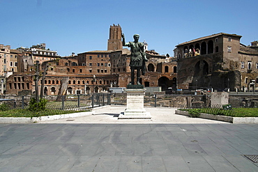 Trajan Markets, deserted due to the 2020 Covid-19 lockdown restrictions, Rome, Lazio, Italy, Europe