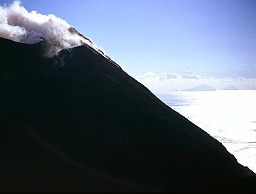 Volcano, Stromboli Island, Eolian Islands (Aeolian Islands), UNESCO World Heritage Site, Italy, Mediterranean, Europe