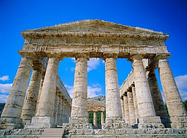 Temple, Segesta, Sicily, Italy, Mediterranean, Europe