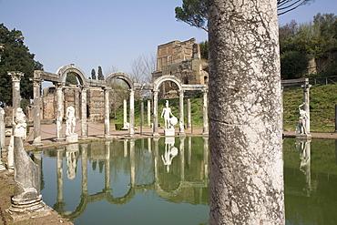 Canopo Nimphaeum, Hadrian's Villa, UNESCO World Heritage Site, Tivoli, near Rome, Lazio, Italy, Europe