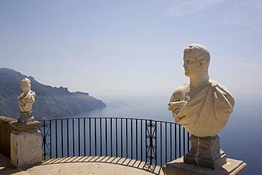 La terrazza dell'infinito (The terrace of infinity), Villa Cimbrone, Ravello, Costiera Amalfitana, UNESCO World Heritage Site, Campania, Italy, Europe