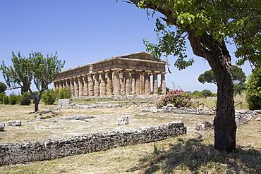 The Temple of Neptune, Paestum, UNESCO World Heritage Site, Campania, Italy, Europe