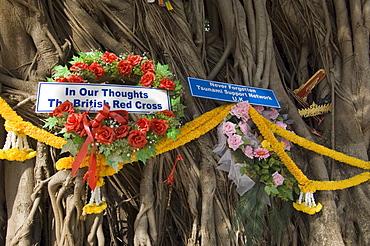Tsunami memorial, Phi Phi Don Island, Thailand, Southeast Asia, Asia