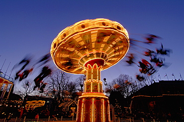 Tivoli Gardens at Christmas, Copenhagen, Denmark, Scandinavia, Europe