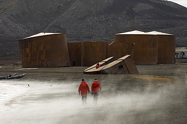 Abandoned whaling station, Telephone Bay, Deception Island, South Shetland Islands, Antarctica, Polar Regions
