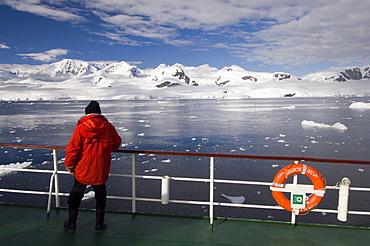 Antarctic Dream ship Gerlache Strait, Antarctic Peninsula, Antarctica, Polar Regions
