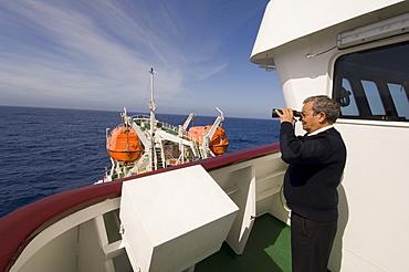 Captain Guerrero, Antarctic Dream ship, Drake Passage, near Cape Horn, South America