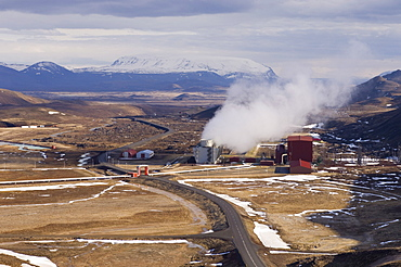 Krafla geothermal power station near Lake Myvatn, Reykjahlid, Iceland, Polar Regions