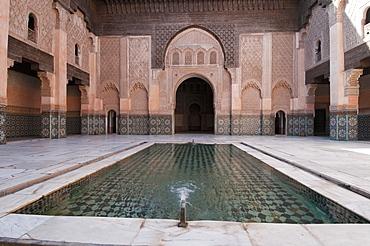 Ali Ben Youssef Medersa (Koranic School), UNESCO World Heritage Site, Marrakech, Morocco, North Africa, Africa